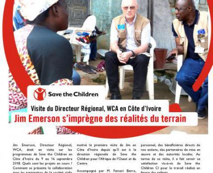 visite du directeur regional WCA de save the children en côte d'ivoire